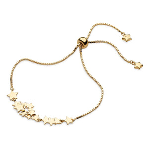 Stargazer Galaxy Gold Plate Toggle Bracelet 7.5""