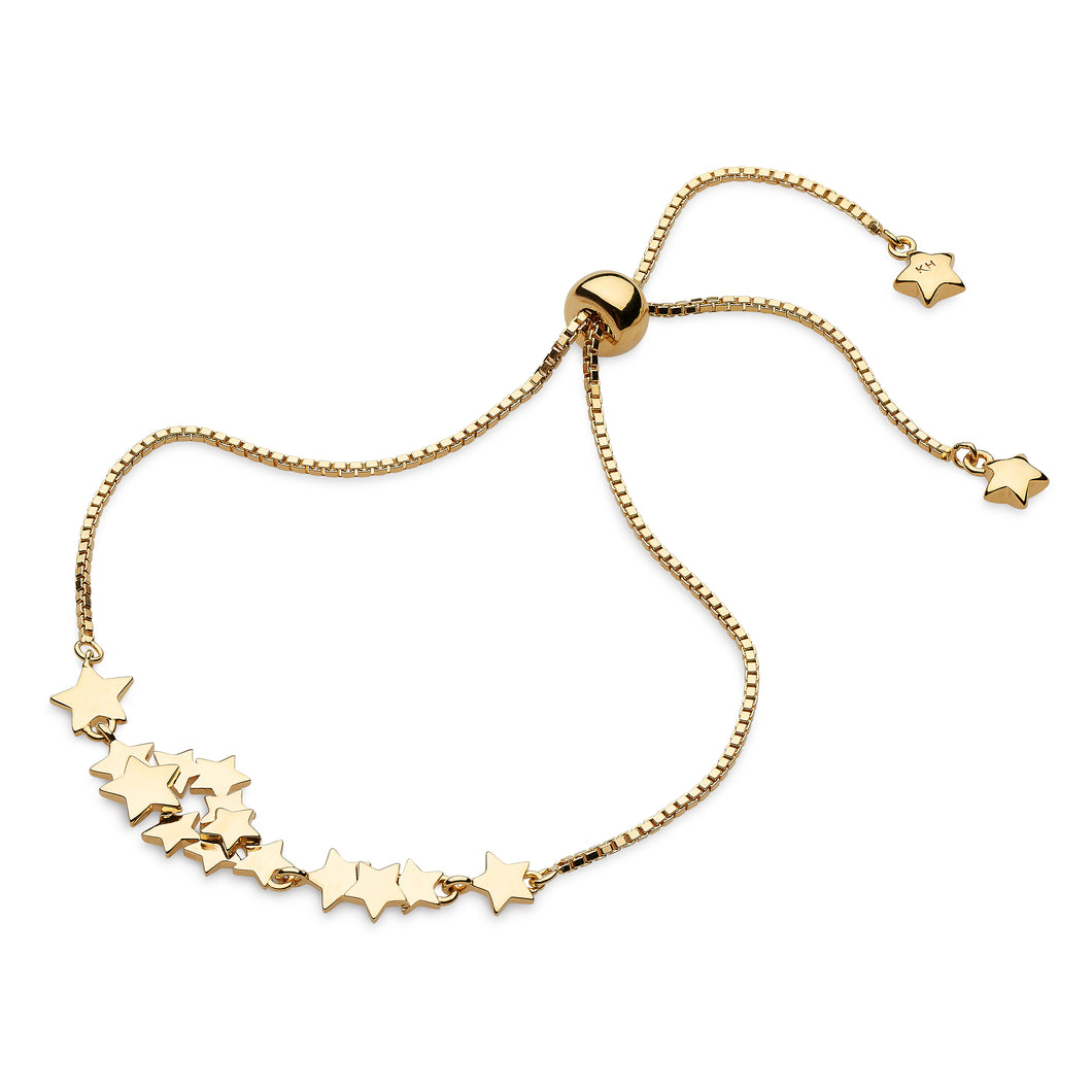 Stargazer Galaxy Gold Plate Toggle Bracelet 7.5