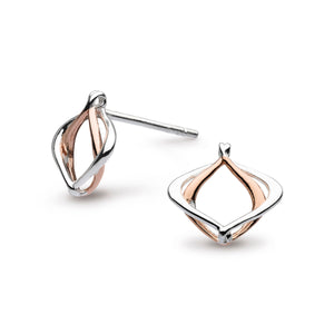 Entwine Alicia Small Rose Gold Plate Stud Earrings