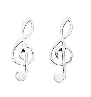 Treble Clef Stud Earrings