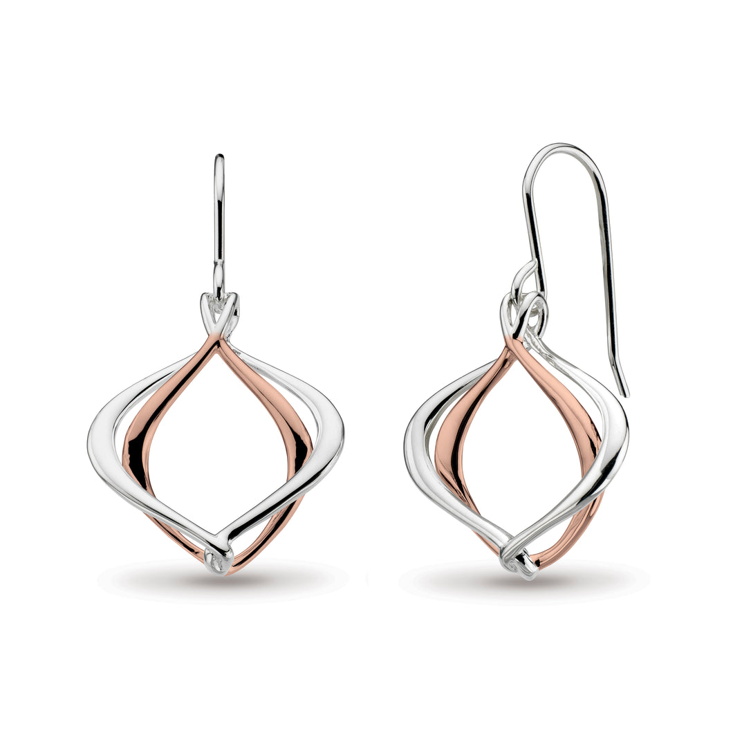 Entwine Alicia Rose Gold Plate Drop Earrings