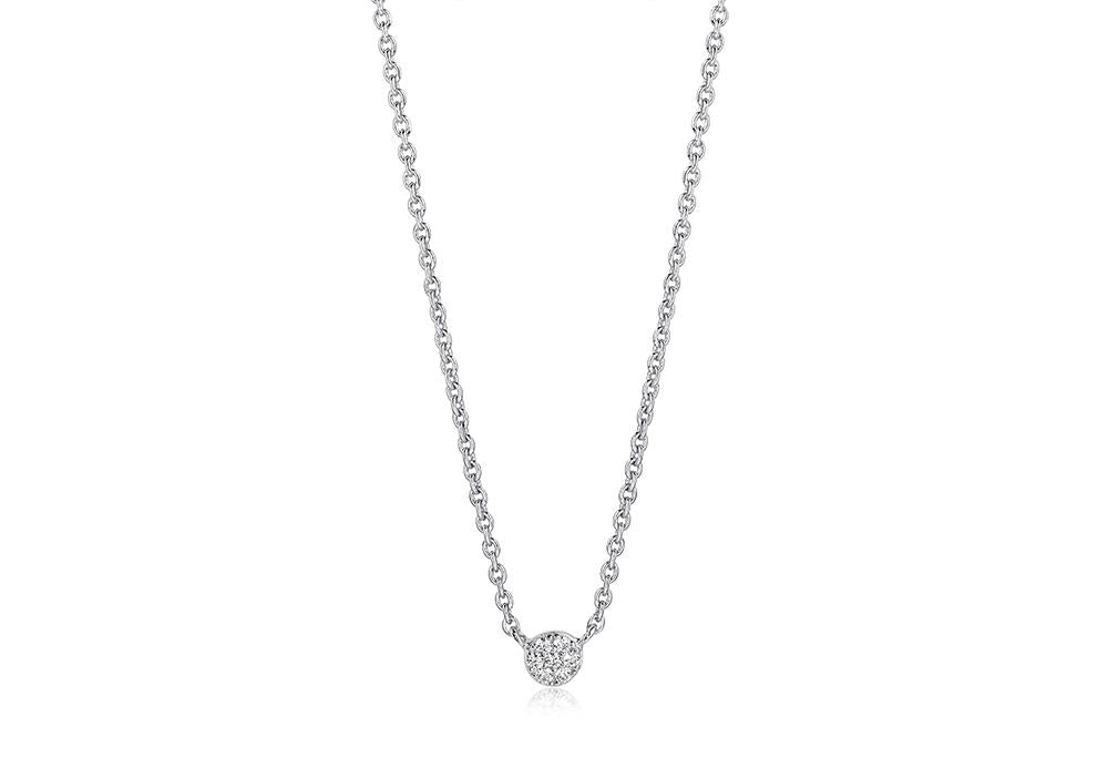 Necklace Cecina With White Zirconia
