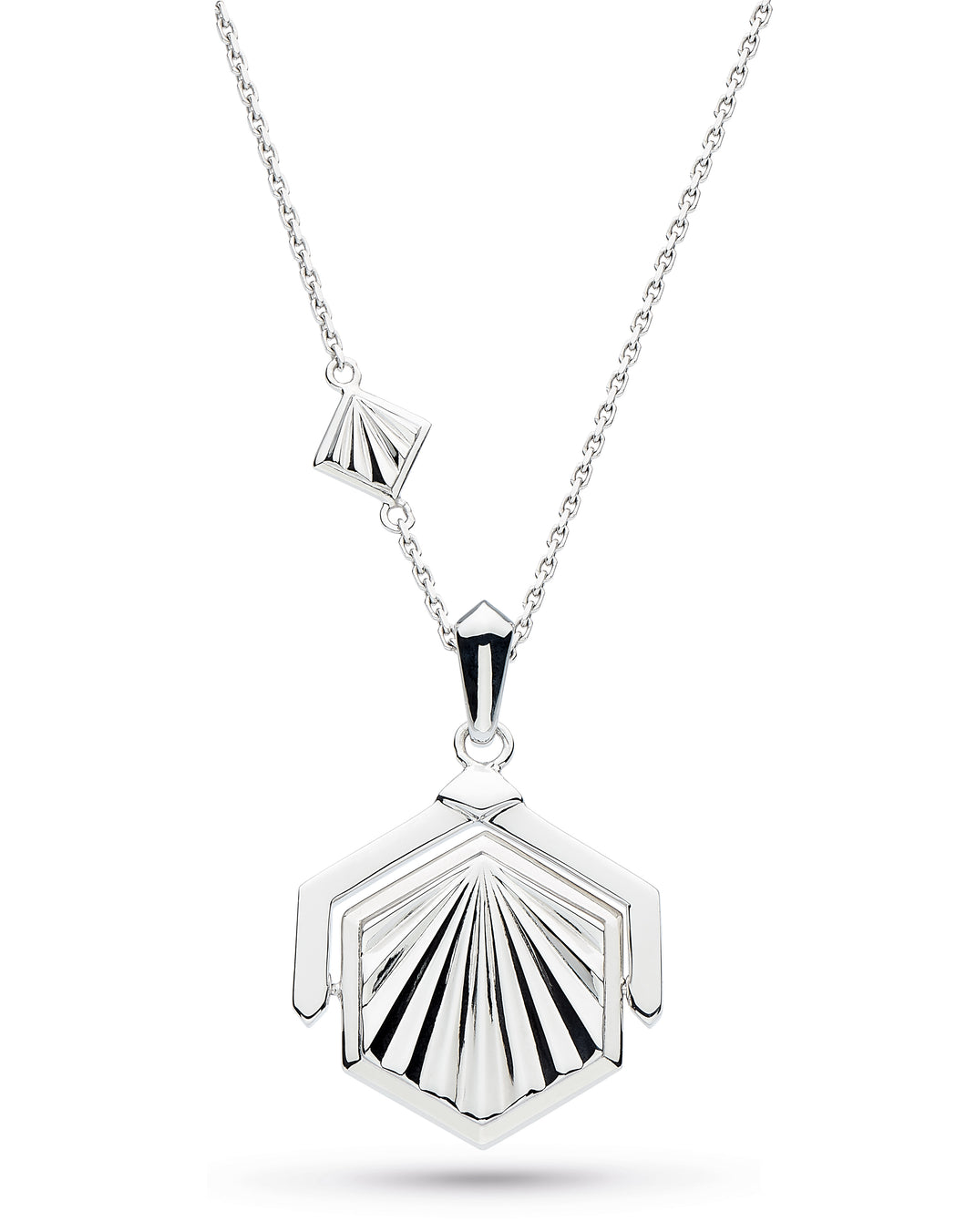 Empire Deco Hexagonal Spinner Necklace