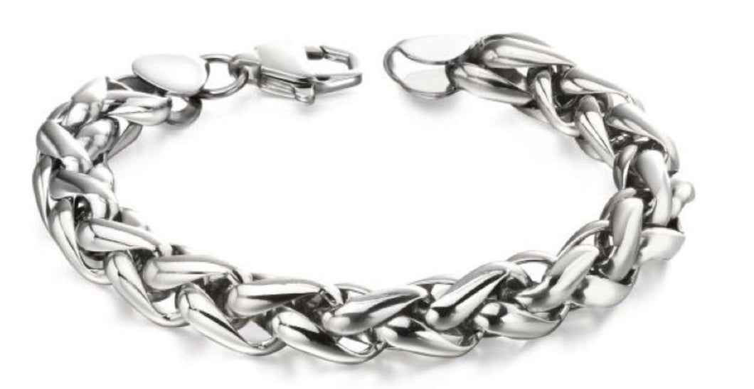 Stainless Steel Twisted Link Bracelet