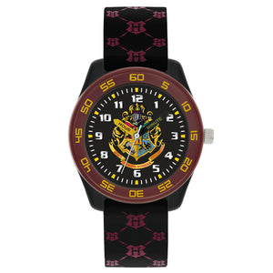 Harry Potter Hogwarts Houses Black Silicone Strap Watch HP9050