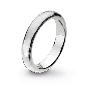 Coast Pebble Hammered 4mm Band Ring