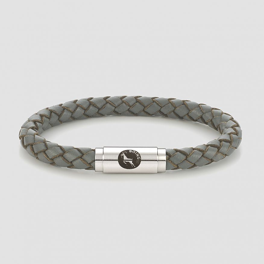 Grey Middy Leather Bracelet
