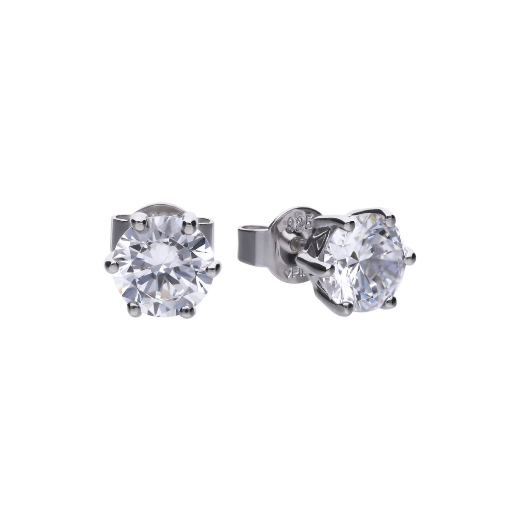 Claw Set 2ct Solitaire Earrings