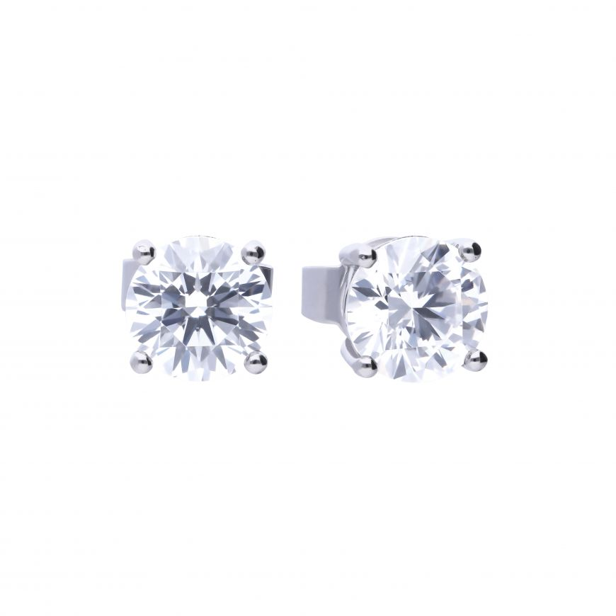 Four Claw Set 1ct Solitaire Stud Earrings