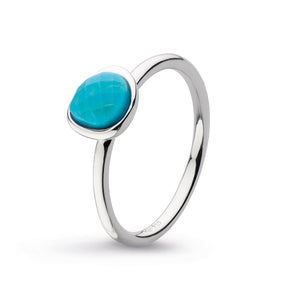 Coast Pebble Stone Mini Reconstituted Turquoise Ring