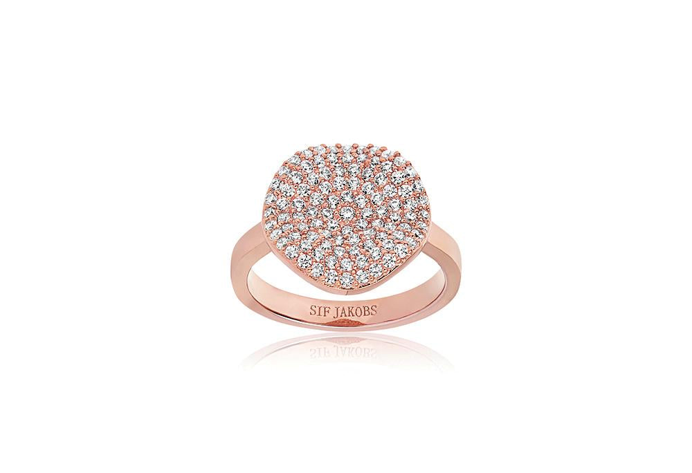 Ring Monterosso - 18K Rose Gold Plated With White Zirconia