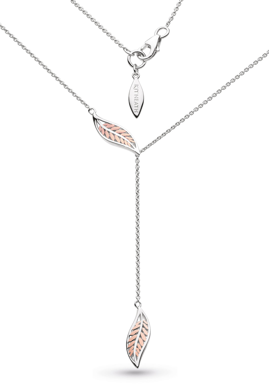 Blossom Eden Blush Leaf Lariat Necklace