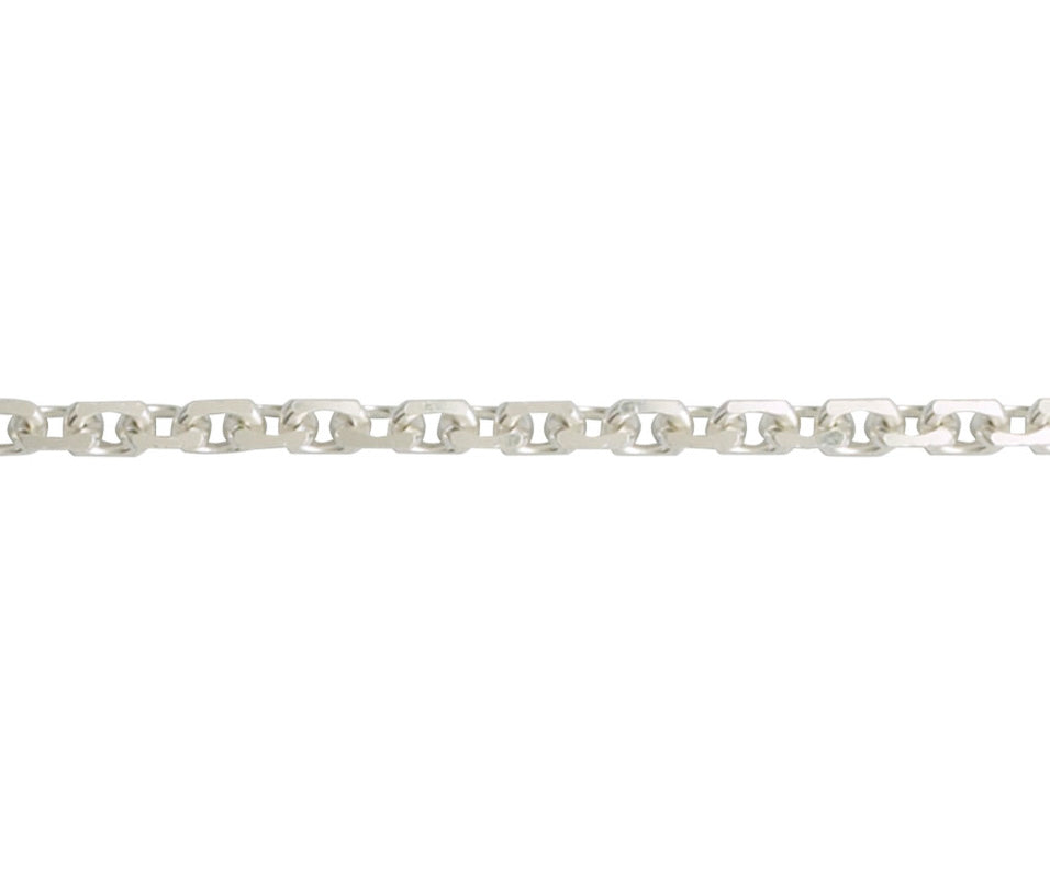Sterling Silver Angle Filed Trace Chain
