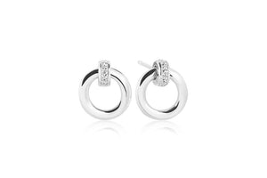 Earrings Itri Piccolo With White Zirconia