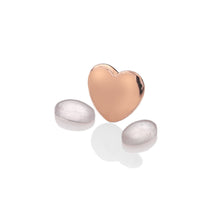 Load image into Gallery viewer, Rose Gold Plated Heart With Birthstone Cabochons