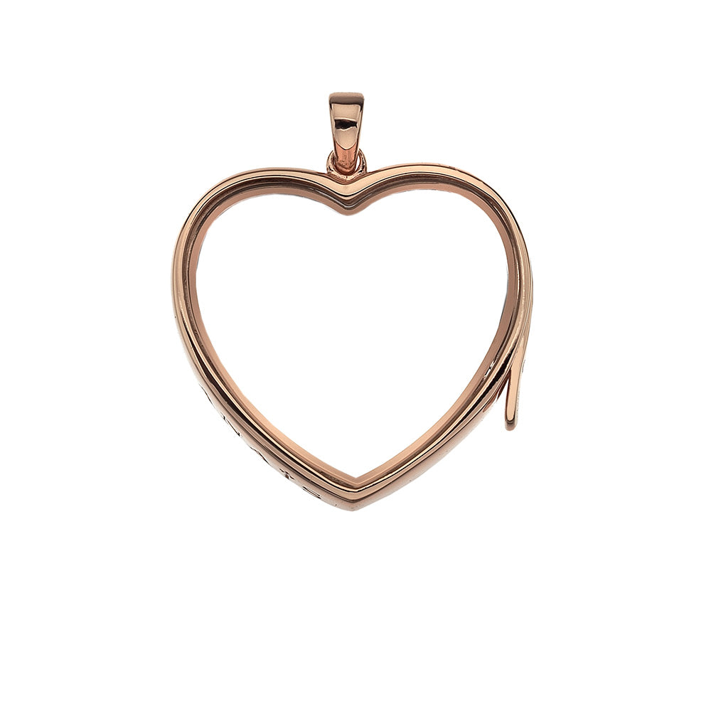 Rose Gold Plated Sterling Silver Large Love Locket