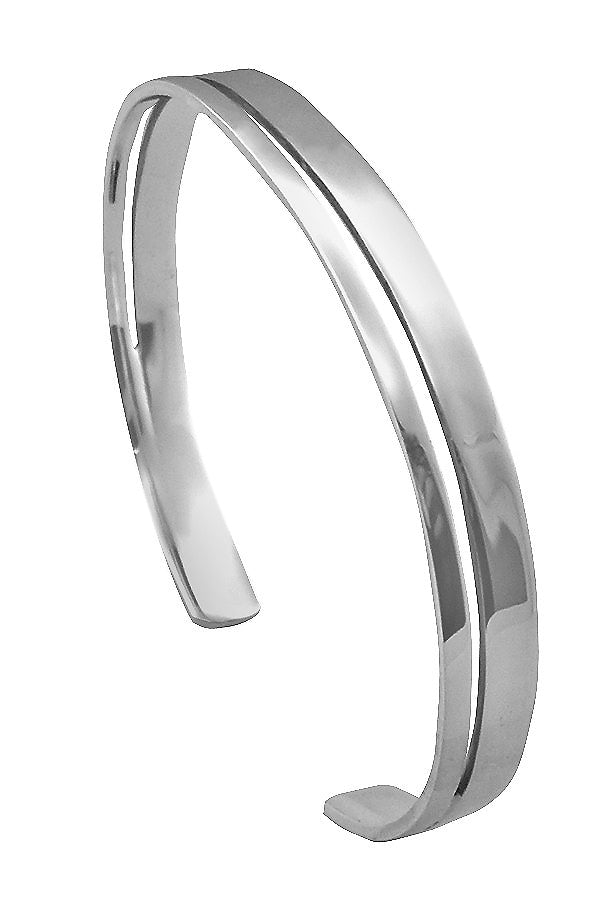 Plain 3/4 Bangle With Cut Out