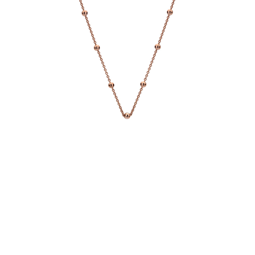 Rose Gold Plated Intermittent Bead Chain