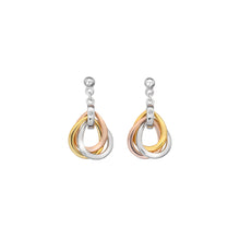 Load image into Gallery viewer, Trio Teardrop Earrings - Rose And Gold Plate Accents