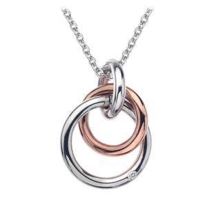 Eternal Pendant - Rose Gold Plate Accents