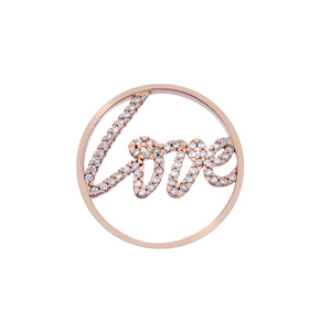 Rose Gold Sparkle Love Coin 33mm