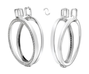 Reversible Sterling Silver Keeper - 33mm