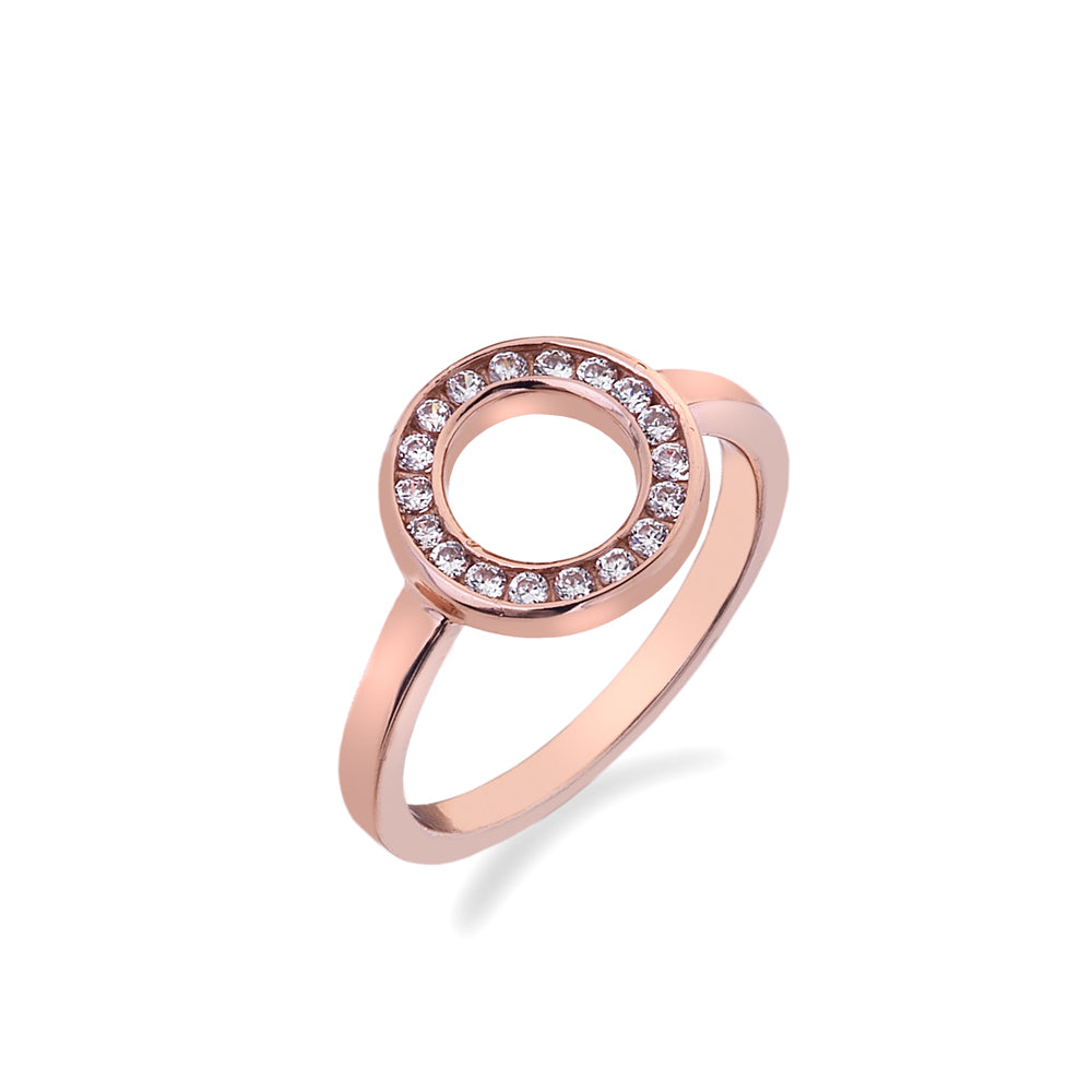 Innocence Rose Gold Plated Sterling Silver Ring