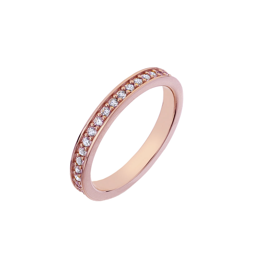 Purity Rose Gold Plated Sterling Silver Ring