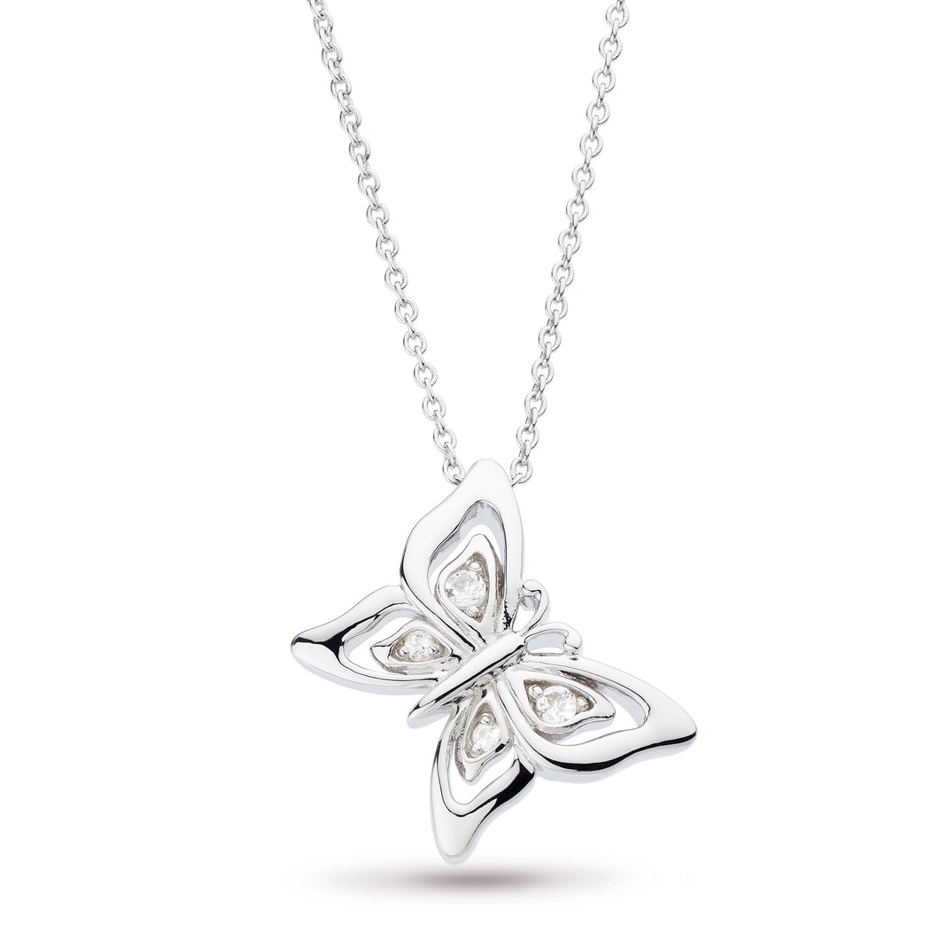 Blossom Flyte Butterfly White Topaz Necklace