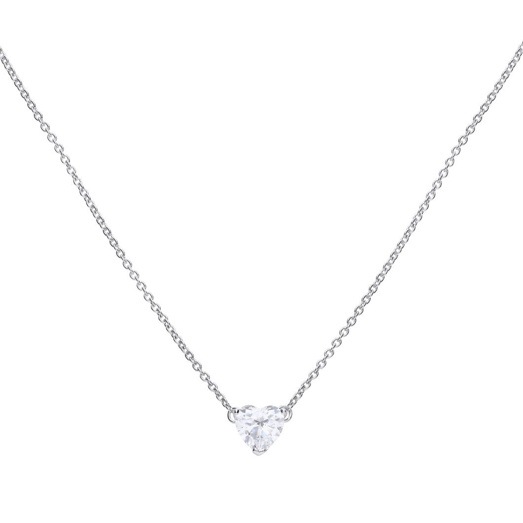 Heart Single Stone Necklace