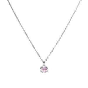 Dusky Pink Zirconia Pavé Necklace