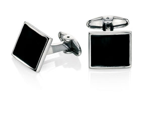 Stainless Steel Enamel Cufflinks