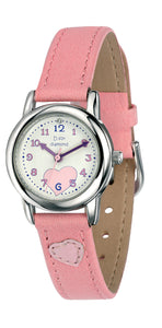 D For Diamond Light Pink Strap Watch