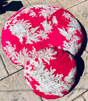 Vivid Pink Toille Sofa Cushion