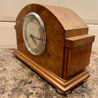 Art Deco Walnut 8 day Clock by Mapin & Webb