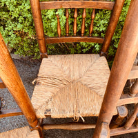 Set of 5 Stick Back Dining Chairs 4 + Carver