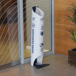 Foot Activated Hand Sanitising Stand (with Cladding)