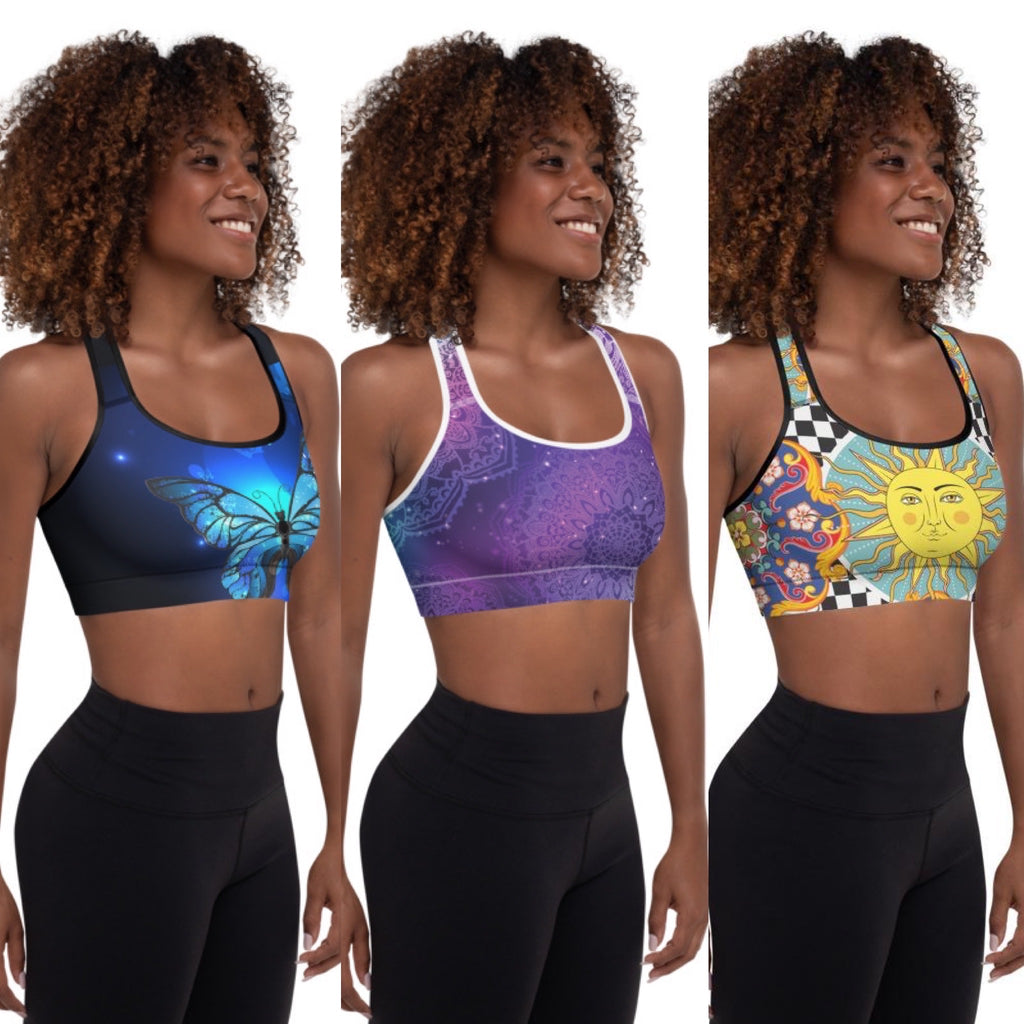 All Over Print Bra Tops