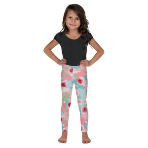 Kid's Roses And Camouflage Leggings