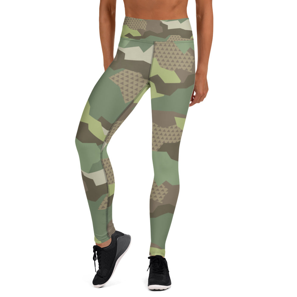 Olive Green Desert Camouflage Leggings