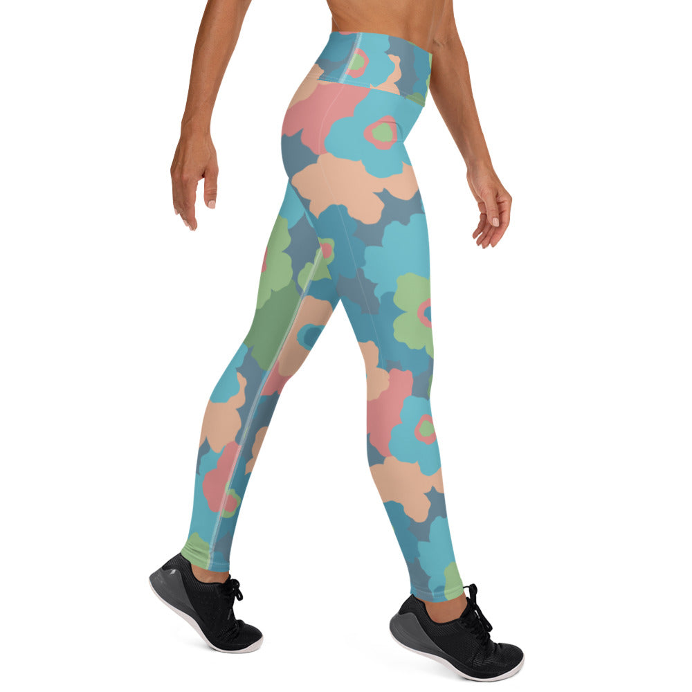 Spring Flowers Camouflage Leggings