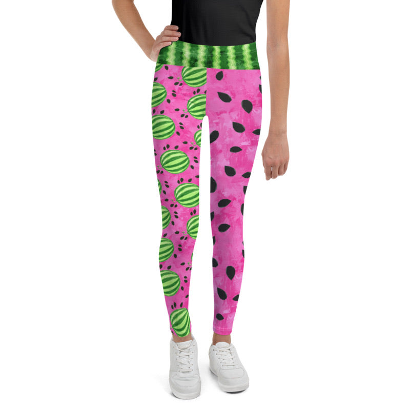 Girl's Pink Watermelon Leggings