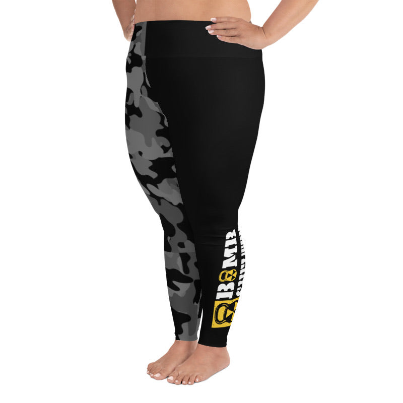 Half Camo Bomb Shelter Plus Size Leggings