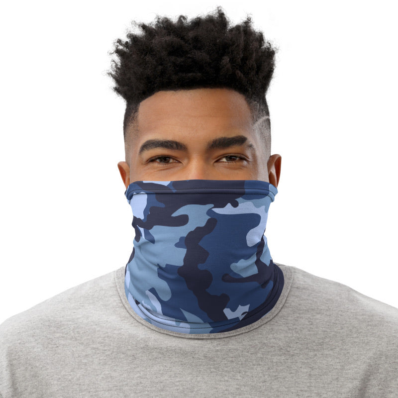 Navy Blue Camouflage Neck Gaiter