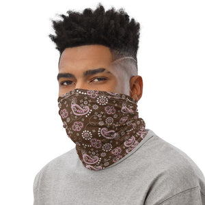 Brown And Pink Bandana Neck Gaiter