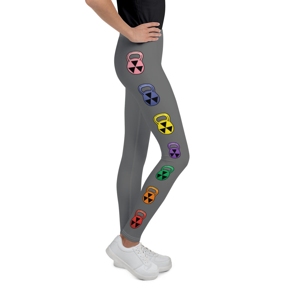 Girl's Rain-bell Bomb Shelter Gray Leggings