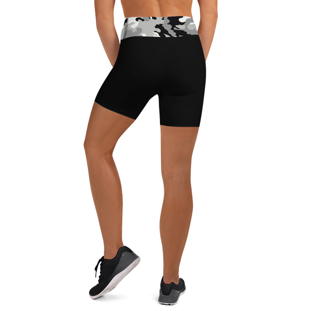 Black Shorts Black/White Camouflage Waistband