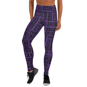 Dark Purple Kettlebell Sport Acronyms Leggings