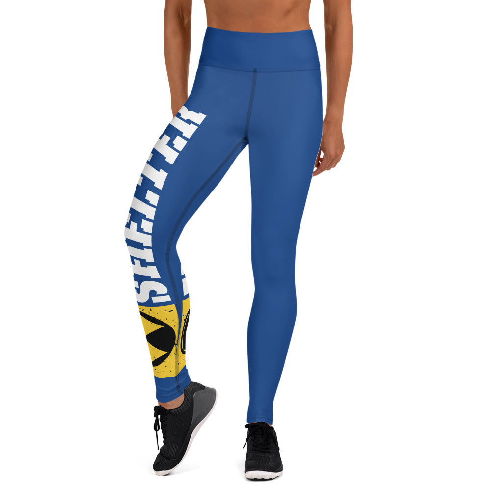 Blue And White Bomb Shelter Logo Leggings