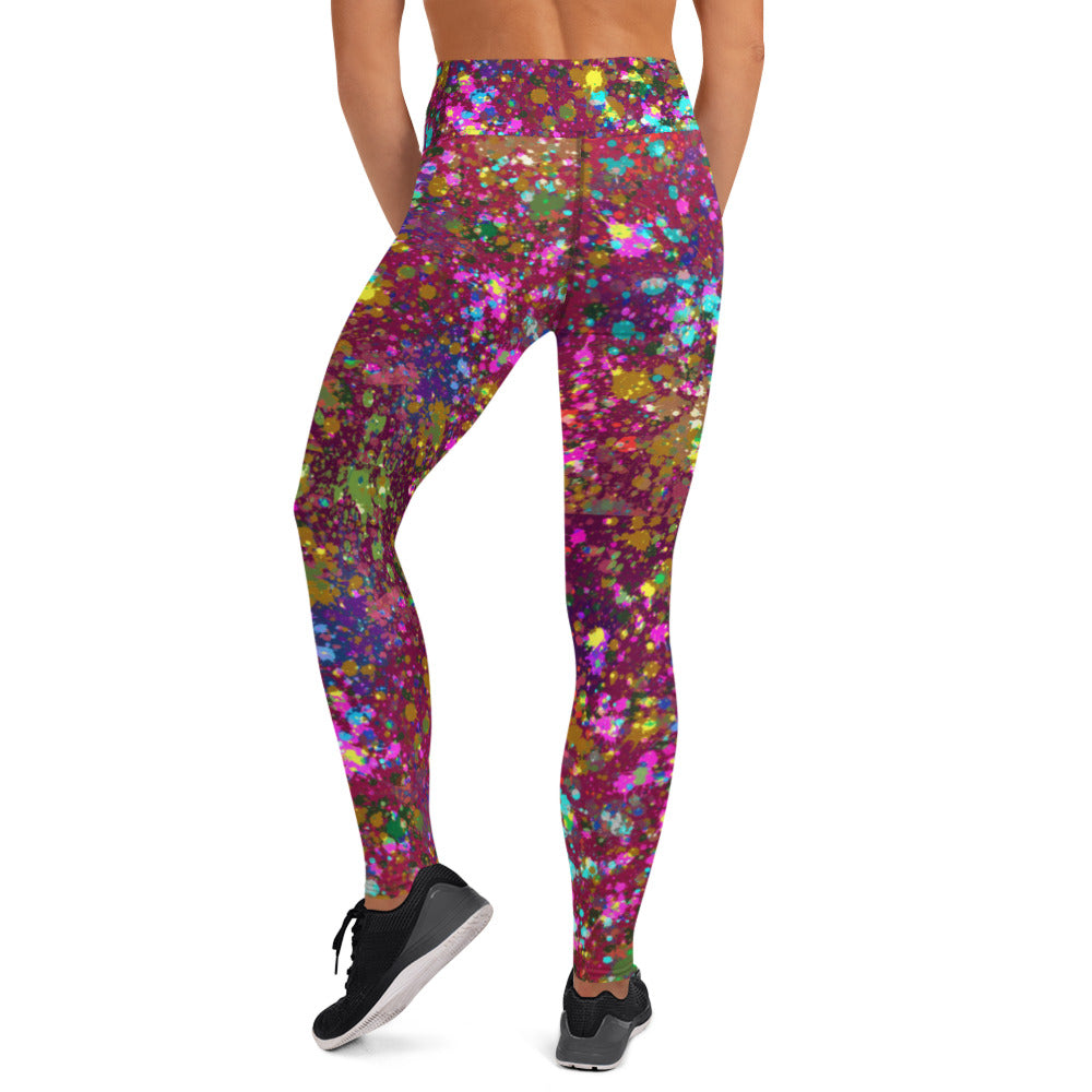 Garnet Paint Splattered Leggings